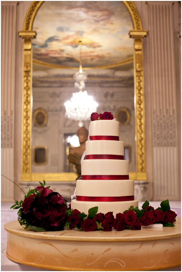 red white wedding cake paris