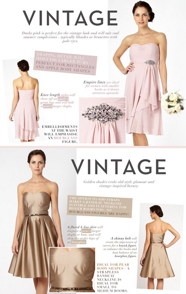 vintage bridesmaid style ideas