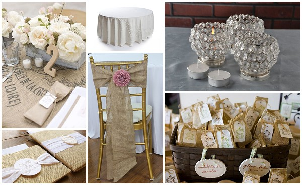 Burlap Decoration Hire