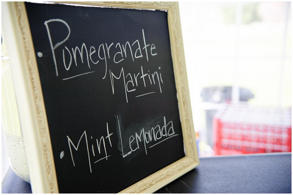 chalkboard cocktail menu | Photography © Adna Photography on French Wedding Style Blog