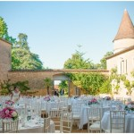 chateau courtyard wedding-france