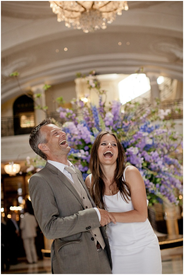 couple laughing  | Photography © Katy Lunsford on French Wedding Style Blog