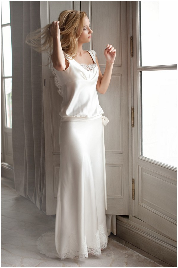 french silk wedding dress