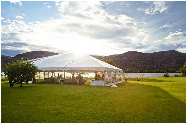 large tent wedding