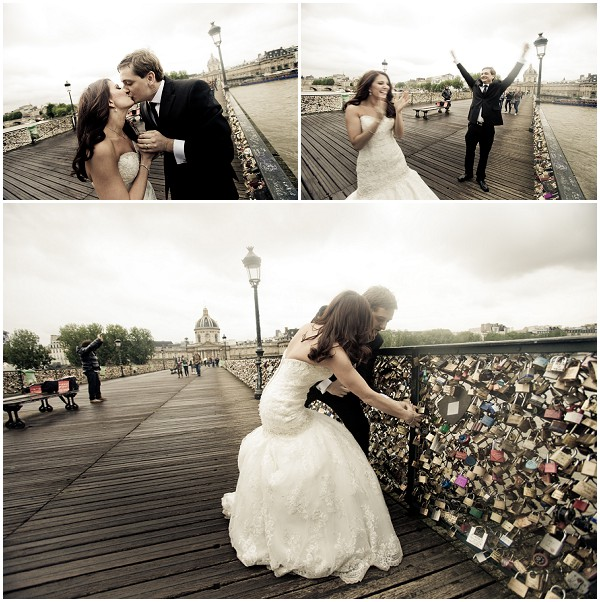 love locks wedding day