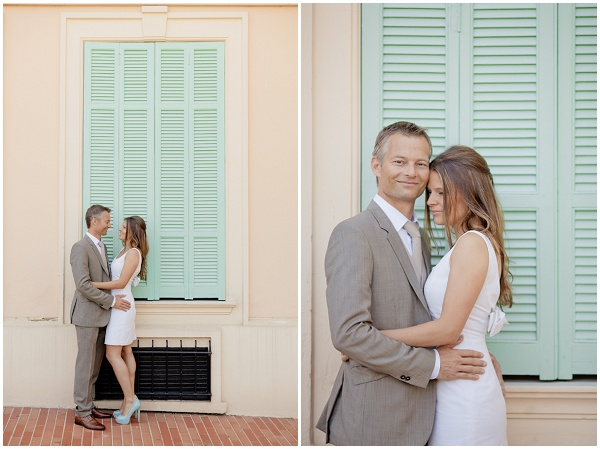Mint Green Shutters in Monaco | Photography © Katy Lunsford on French Wedding Style Blog