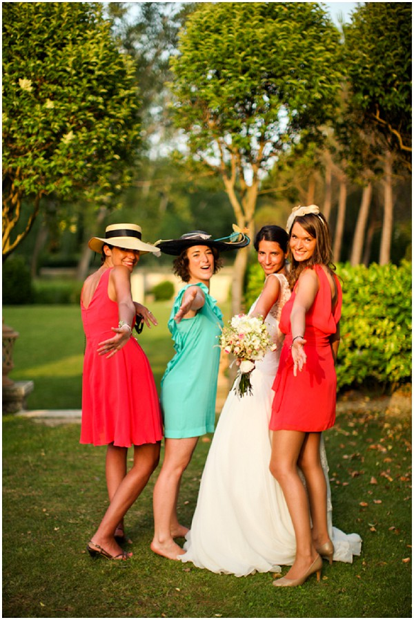 multi coloured bridesmaids