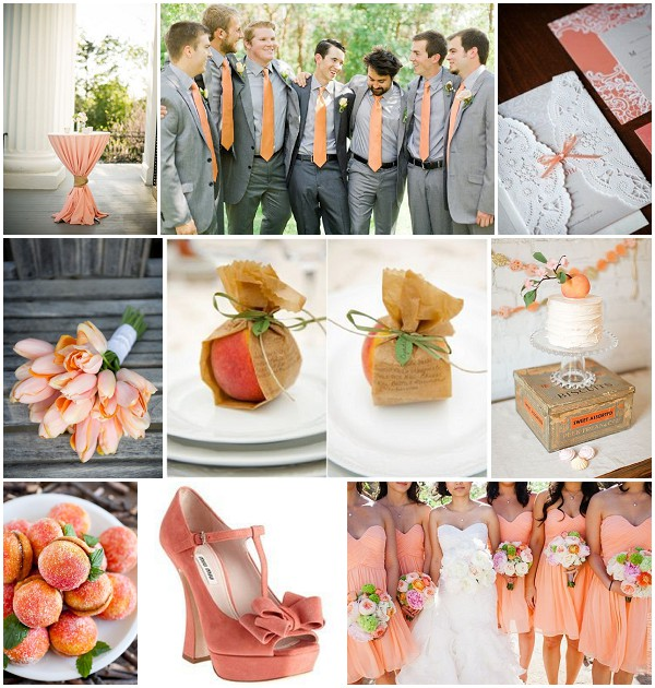 Pretty peach wedding ideas peach wedding ideas junglespirit Images