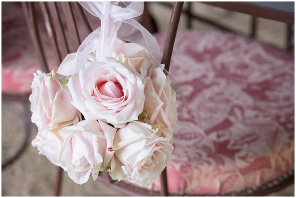 pink rose chair decorations