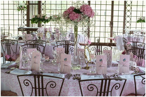 dusky pink wedding reception