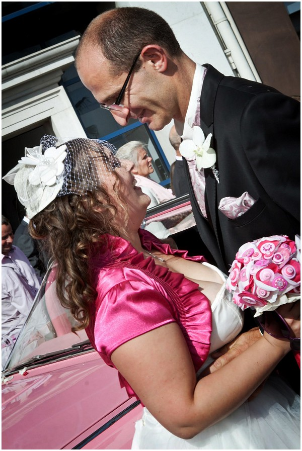 pink white bridal style