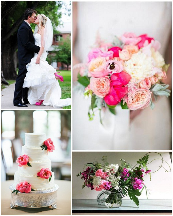 pop pink wedding ideas