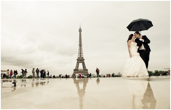 rainy paris wedding