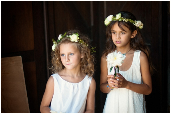 real flower girl headbands