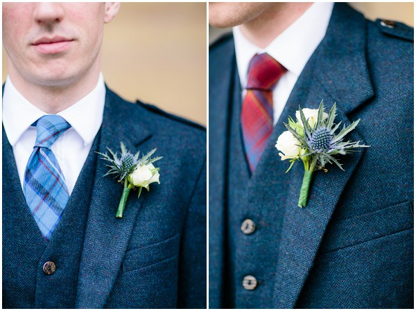 scottish themed buttonholes