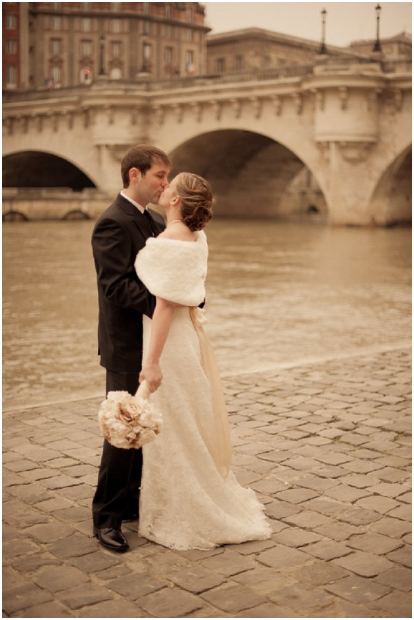 Wedding Banks Of River Seine Elope To Paris Vintage
