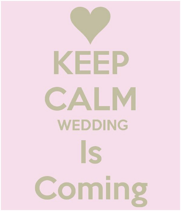 Keep calm the wedding is coming - wedding countdown