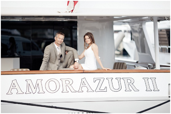 Yacht charter Monaco  | Photography © Katy Lunsford on French Wedding Style Blog