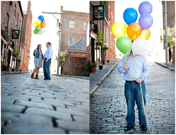 balloons as photo props