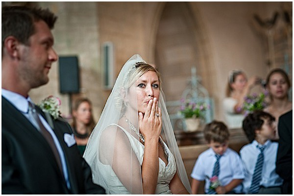 bride blowing kiss