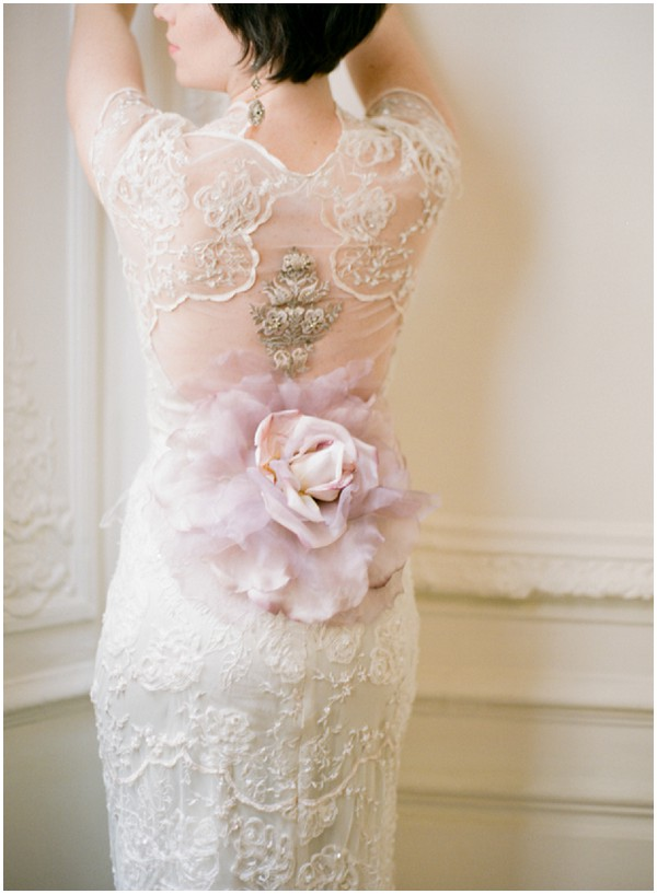 Romantic claire pettibone wedding dress for paris elopement for Where to buy claire pettibone wedding dress