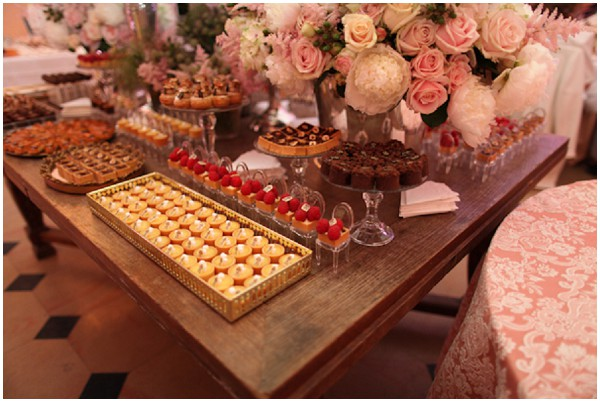 dessert table in France