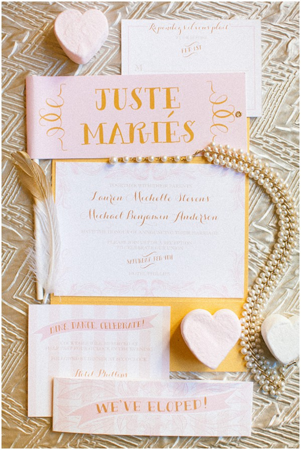 just married stationery