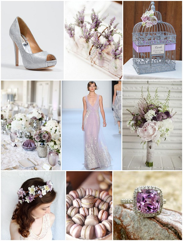 lavender and silver wedding ideas on French Wedding Style
