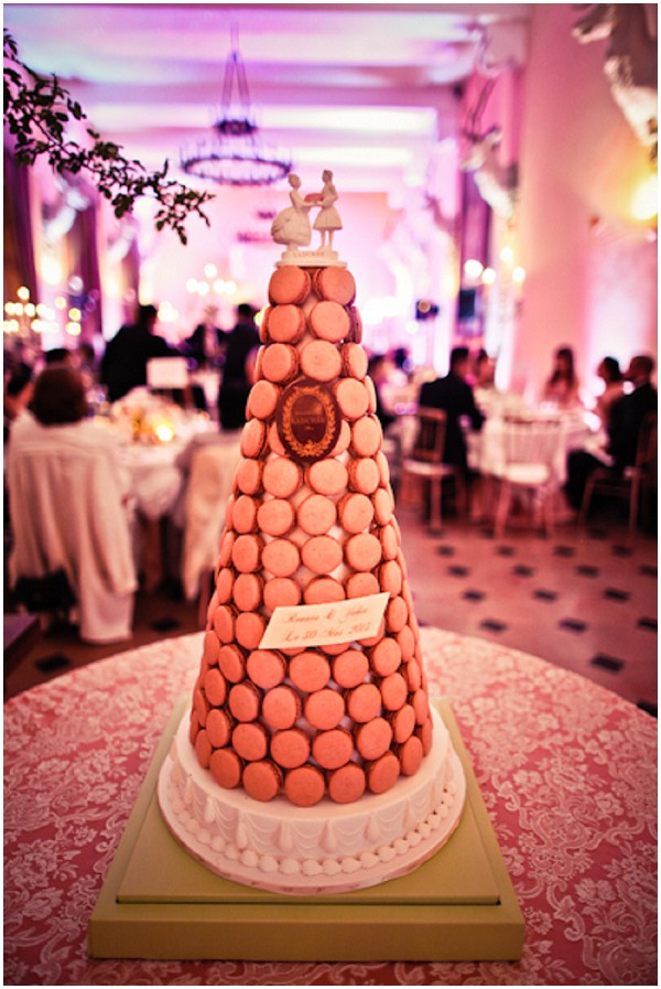 macaron tower as alternative delicious wedding cake