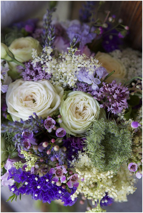 Purple bridal bouquet - radiant orchid flowers