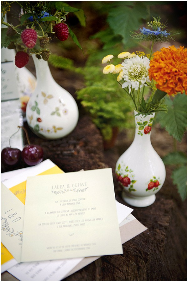 woodland wedding stationery