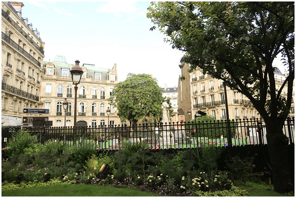 Beautiful gardens in Paris