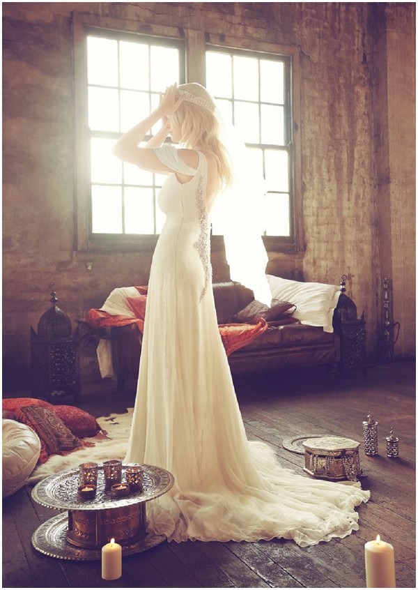 Couture boho wedding dress