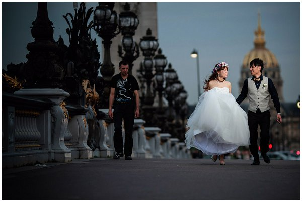 bride groom paris