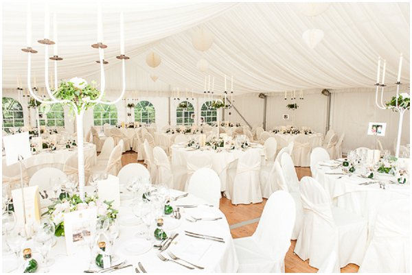 classic white wedding marquee