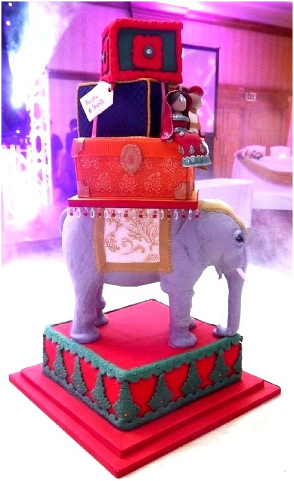 Indian Wedding Elephant Cake from Cakes by Beth on French Wedding Style