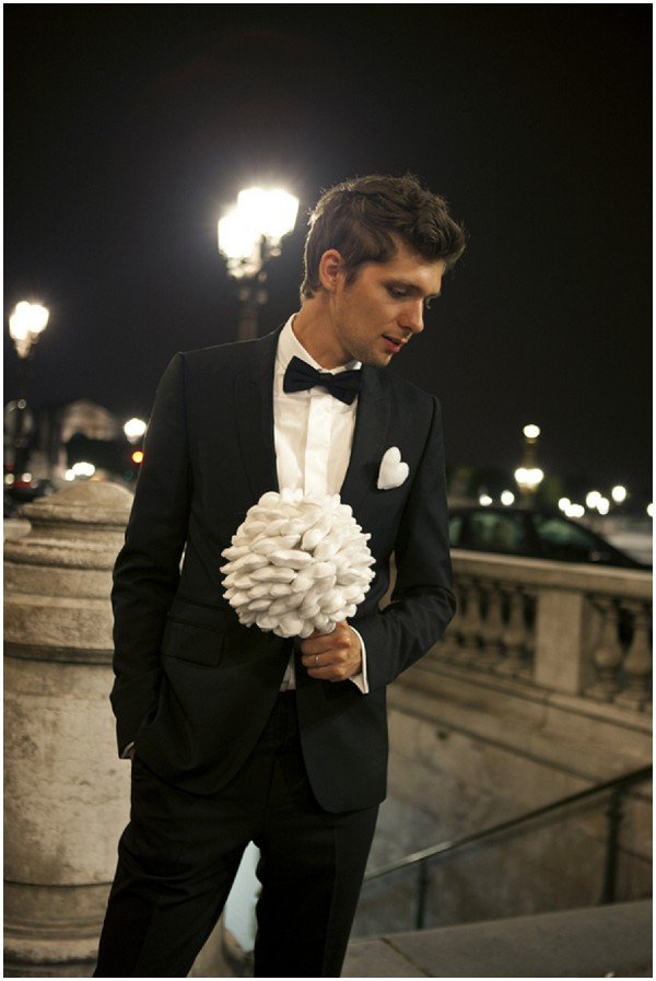 groom in tux paris