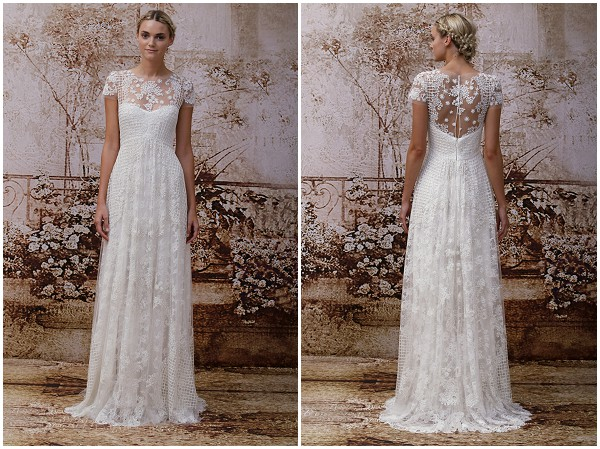 Monique lhuillier 2014 fall collection for Romantic ethereal wedding dresses