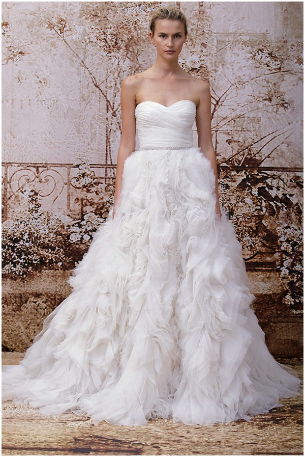 Princess wedding dress Monique Lhuillier 2014 Fall