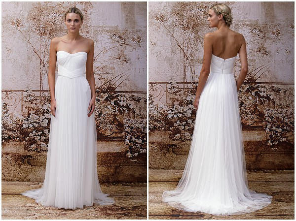 Monique Lhuillier Simple wedding dress