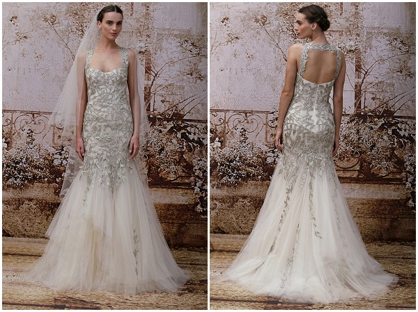 Unique wedding dress Monique Lhuillier