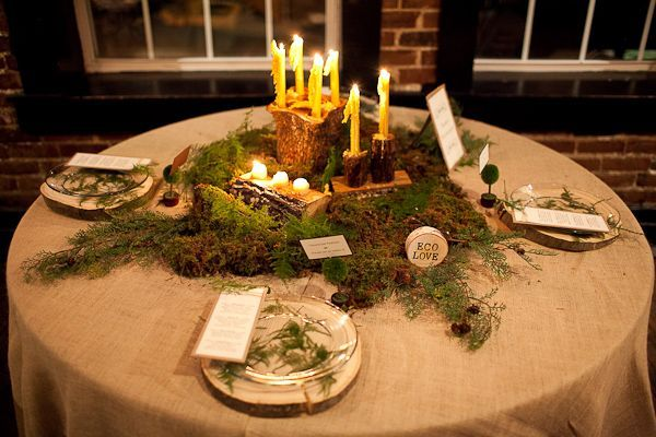 moss romantic table
