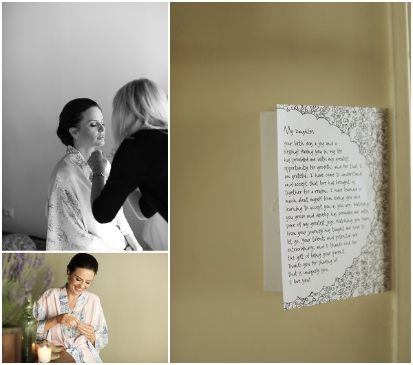 A beautiful touch, personalised letter from Mother of Bride