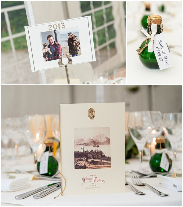 personalised wedding tables
