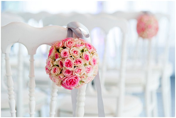 pink aisle decorations