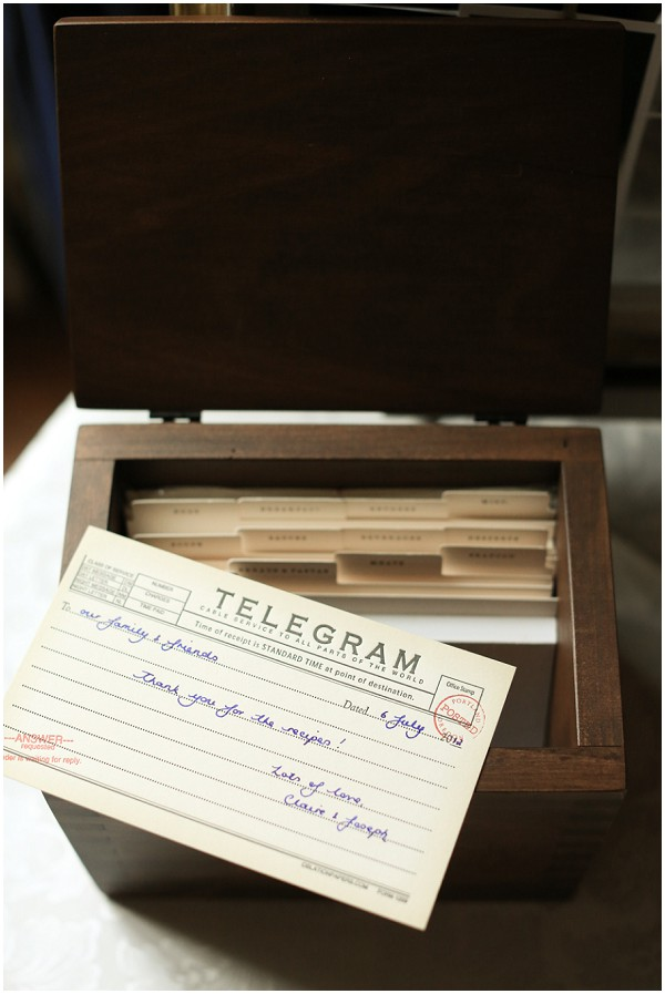 wedding telegram | Melissa Barrick Photography