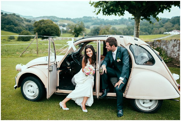 2cv wedding car france