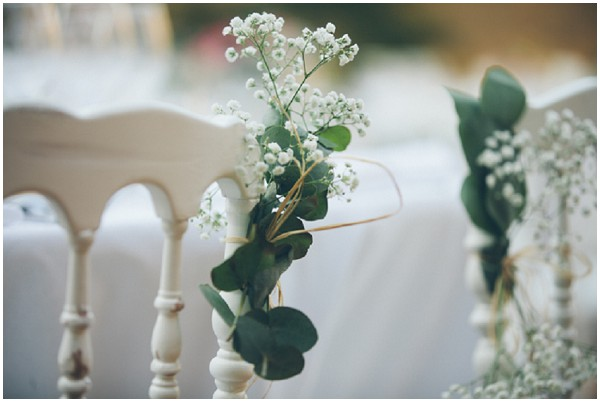 babys breath chair decorations