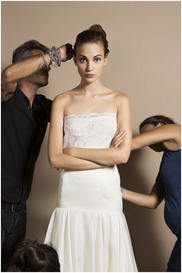 behind bridal shoot