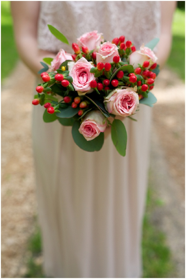 christmas bridesmaid bouquet
